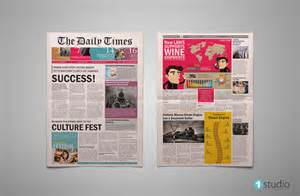 Newspaper Front Page Template by 8 Sle Newspaper Layouts In Design Pdf