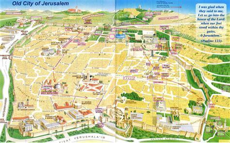 jerusalem map maps page