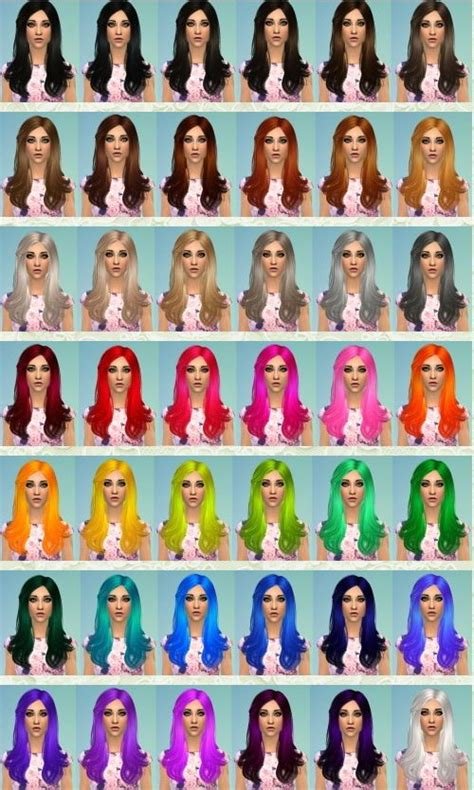 sims 3 custom hir color 93 best images about sims 4 costume content on pinterest