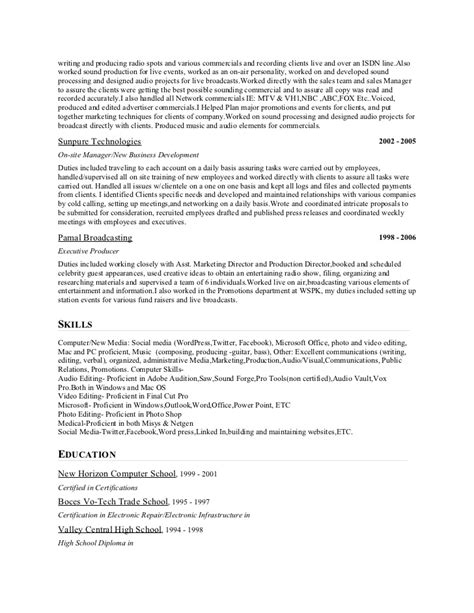 show resume sles 28 images sales management sle resume