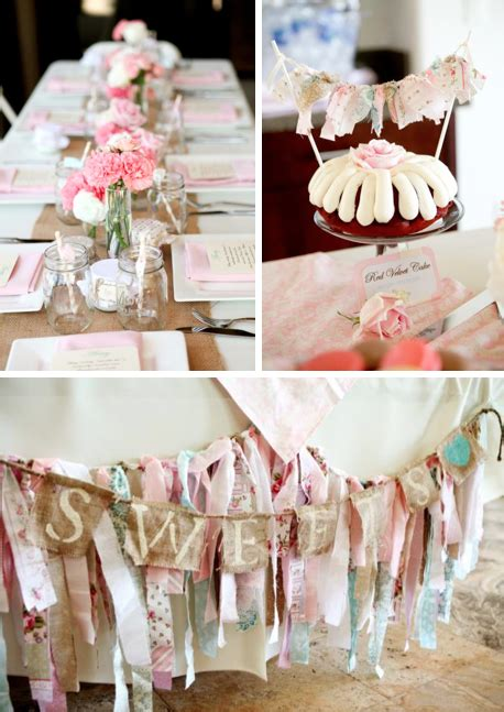 Chic Baby Shower by Vintage Shabby Chic Baby Shower Entertaining