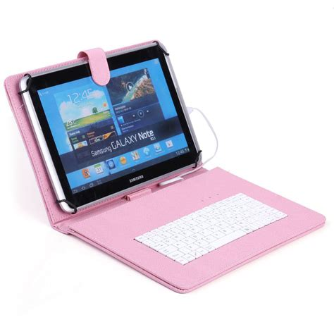 Tablet 10 Inch 2 Juta 10 tablet leather cover usb keyboard for 10 1 10 2 inch android windows mid ebay