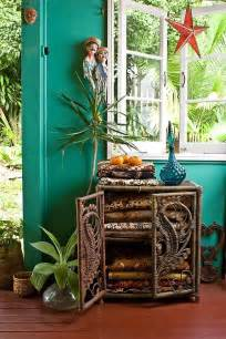 Mexican Interior Paint Colors Bohemian Homes Bohemian Homes Turquoise Walls