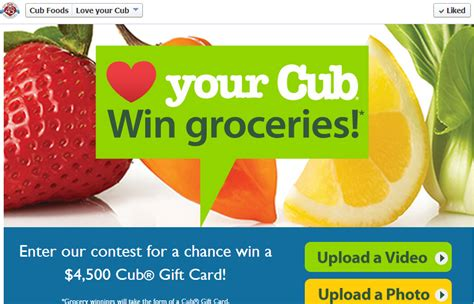 Cub Foods Gift Card - great sweepstakes cub foods 4 500 gift card sweepstakes young adult money