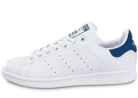 adidas stan smith blanche et bleu marine chaussures homme chausport
