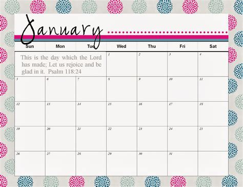 printable calendar pretty pretty january 2016 printable calendar calendar template
