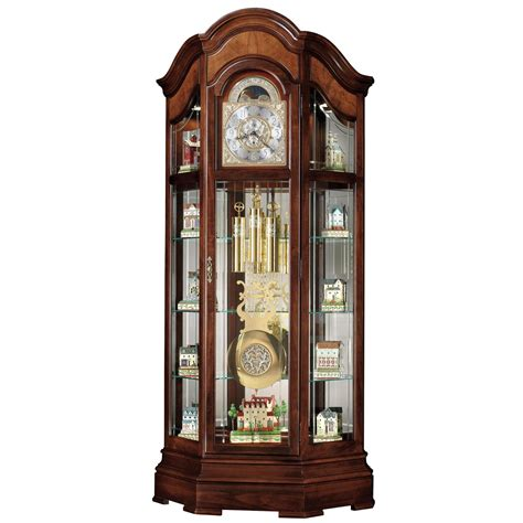 grandfather clock howard miller majestic curio grandfather clock curio cabinets at hayneedle