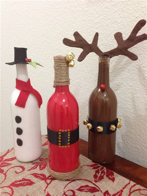 christmas crafts from old wine bottles projects to try
