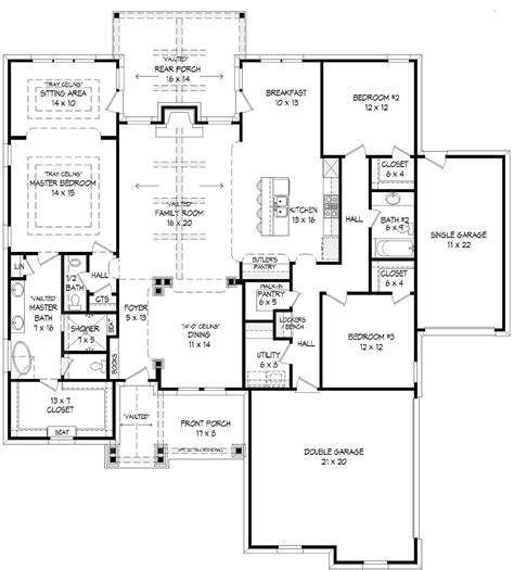 1st floor plan house the jonathan 9404 3 bedrooms and 2 baths the house designers