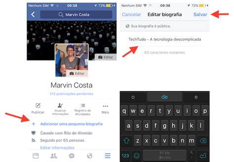 imagenes geniales para biografia de facebook como adicionar uma biografia no facebook pelo iphone