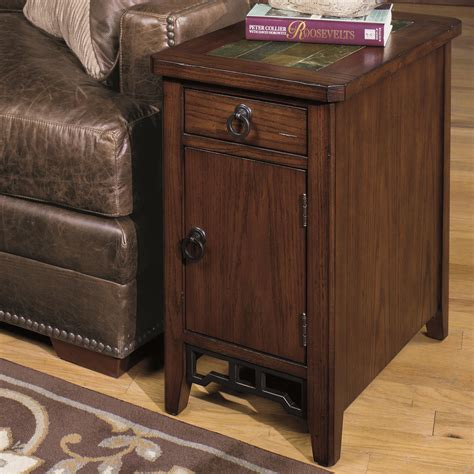 null furniture chairside table null furniture 5013 chairside cabinet with magazine