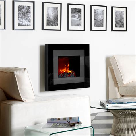White Fireplaces Electric by Classy Modern Dimplex Redway Wall Mounted Black Electric