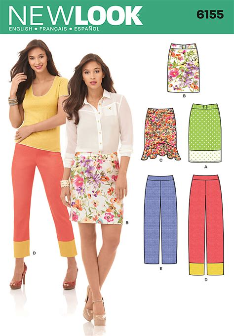 pattern review best of 2012 new look 6155 misses skirt and pants
