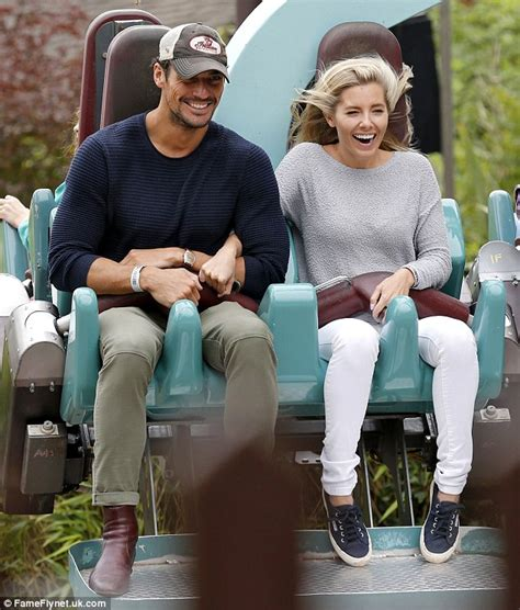 Sit Down Vanity With mollie king clings on to david gandy for dear life as they