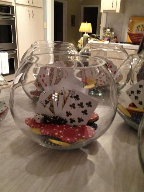 Casino Party Poker Chips And Party Centerpieces On Pinterest Casino Centerpiece Ideas