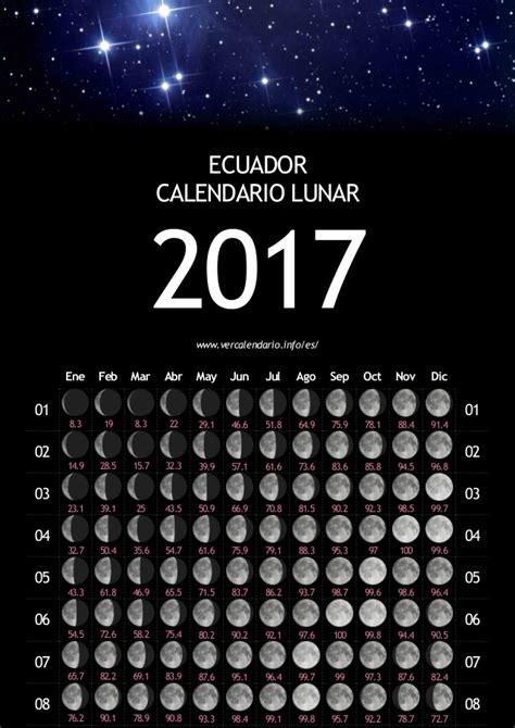 Calendario De Ecuador Calendario Lunar Ecuador 2017