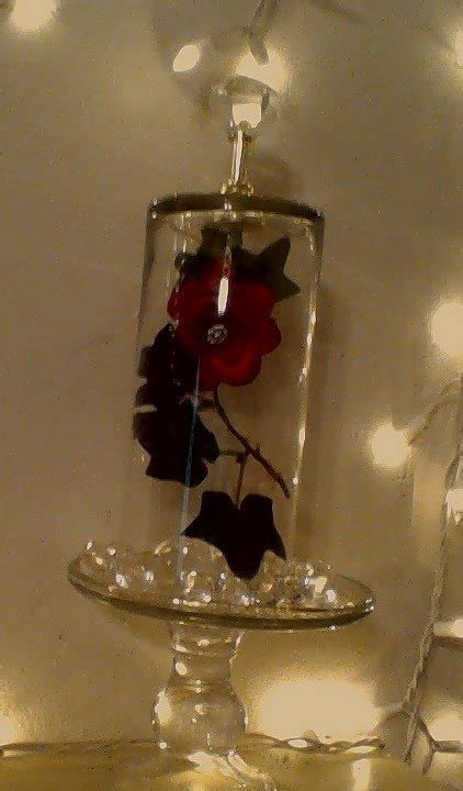 And The Beast Flower Vase diy enchanted the beast floating rose