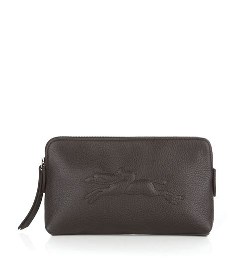 longch veau foulonne cosmetic bag in gray lyst