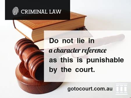 Can You Go To Australia With A Criminal Record Character References In South Australia Go To Court Lawyers