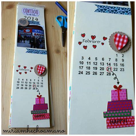 Calendario Sello Mano Miriam Hecho A Mano Enero 2014