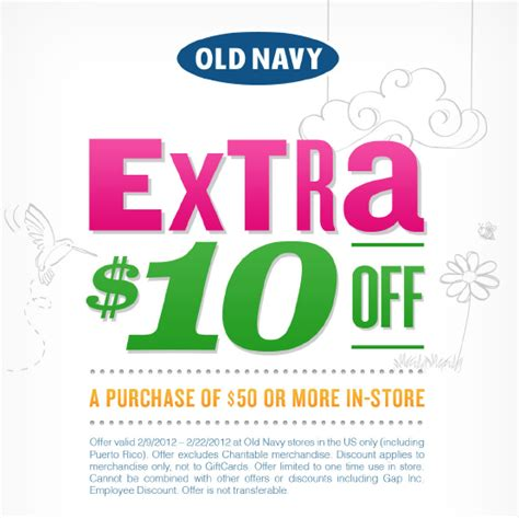 old navy coupons 10 off 50 at old navy old navy turns 10 off 50 coupon into pdf in case you