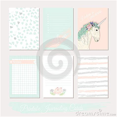 templates for credit card designs polka dots printable set of filler cards with flowers unicorn