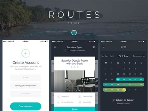 home design software free ios routes ui kit for ios sle pack freebiesbug