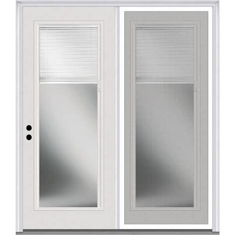 center swing patio doors with screens shop milliken 63 in x 81 75 in blinds between the glass