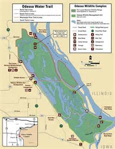 odessa water trail maps routes in louisa county iowa