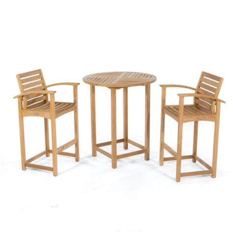Teak Bar Table And Stools by 3 Pc Somerset Bar Set Westminster Teak