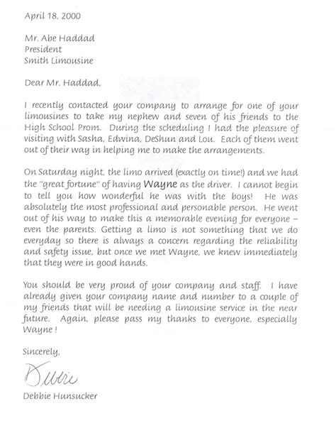 Service Letter For Driver View Our Many Letters Of Recommendation