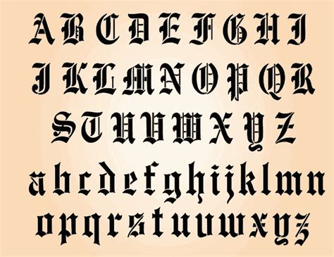 tattoo old english alphabet image gallery old english tattoo fonts