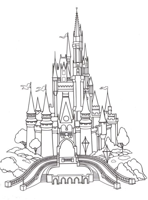 Cinderella Castle Coloring Pages Castle Coloring Pages Kids World