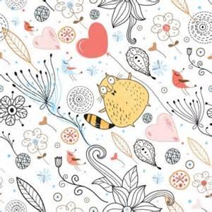 Illustrative Pattern Essay by 優雅花紋插畫背景向量 向量背景 免費向量 免費下載
