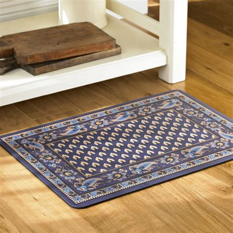 Cushioned Kitchen Mat by Marseille Cushioned Kitchen Mats Navy Williams Sonoma