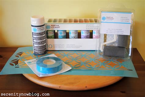 martha stewart crafts paint customized kitchen containers serenity now stenciled lazy susan for crafts or the