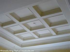 Coffered Ceiling Construction Basement Ceiling From Dungeon To