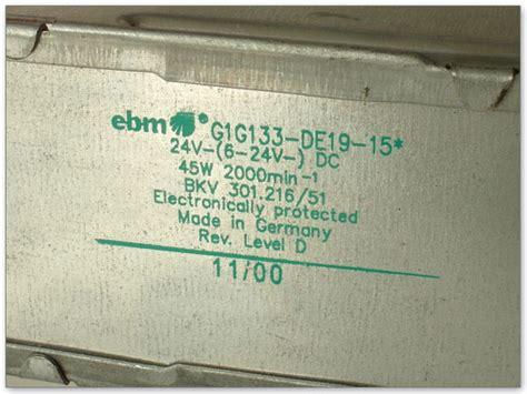 Sale Fan Dc 24 Volt 6 Cm ebm papst g1g133 centrifugal turbo ventilator l 252 fter 6 24