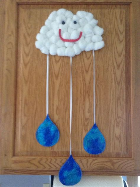 kindergarten craft projects raindrop crafts