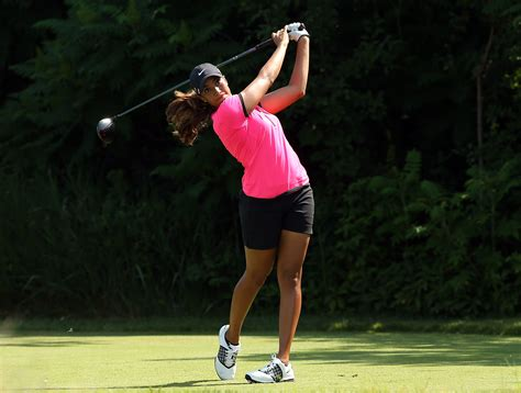 cheyenne woods swing tiger woods niece shoots 75 in us women s open 171 cbs detroit