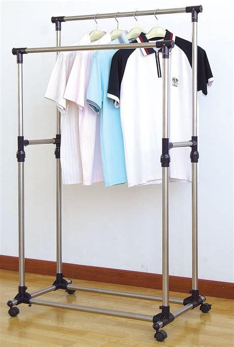 Heavy Duty Garment Closet by New Heavy Duty Rail Adjustable Telescopic Rolling