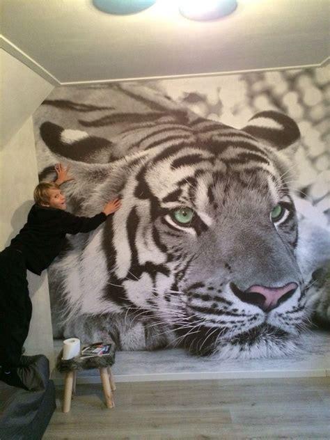 behang tienerkamer tienerkamer witte tijger foto behang zolder tienerkamer