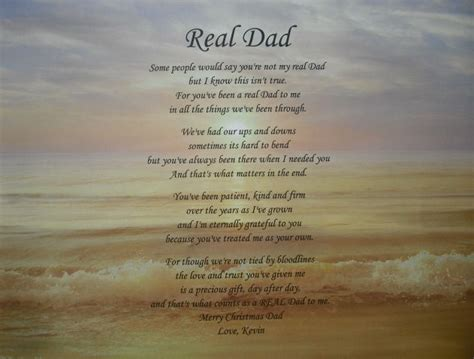 step fathers day poems real personalized step poem birthday fathers day