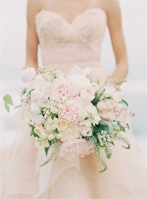 blush pink with brooch wedding bouquet archives weddings romantique