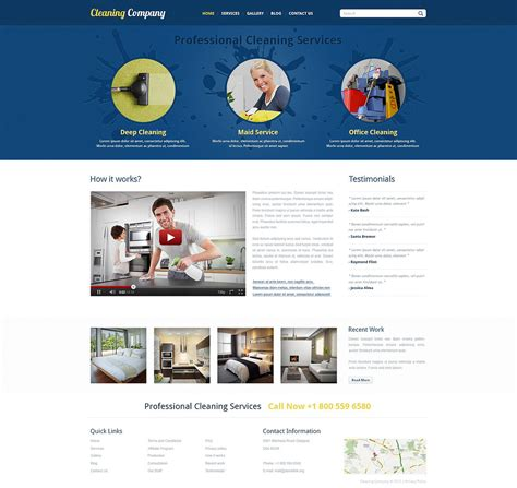 cleaning responsive joomla template 45335