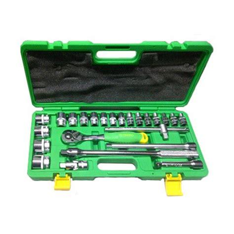 Kunci Sok Tekiro Fullset jual tekiro 24pcs 6pt box plastik set kunci sok 1 2 inch harga kualitas terjamin