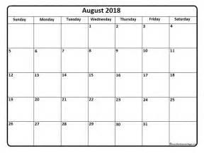 Kalender Augusti 2018 August 2018 Calendar August 2018 Calendar Printable