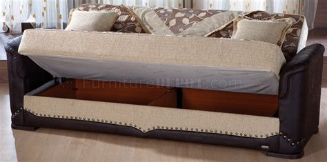 beige leather sofa bed beige fabric dark leather base convertible sofa bed w
