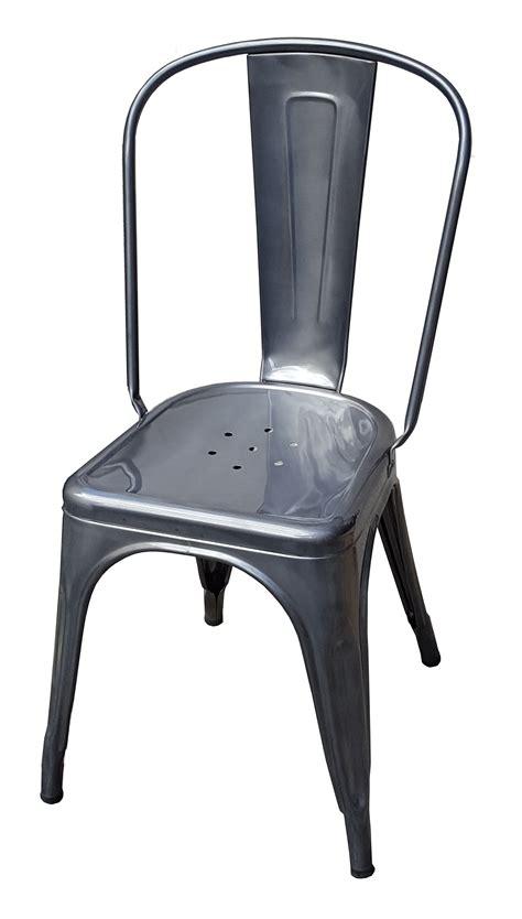 chaise acier chaise a de tolix acier brut gris lasur 233