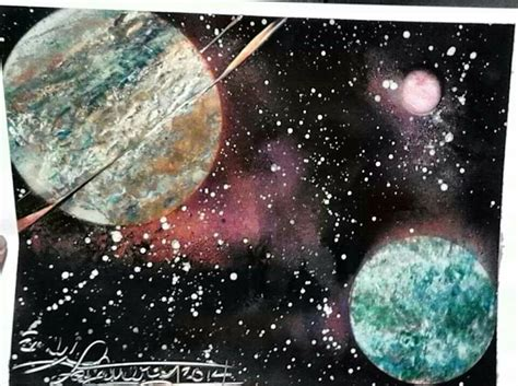 spray paint galaxy pin by emily la mattery on spray paint